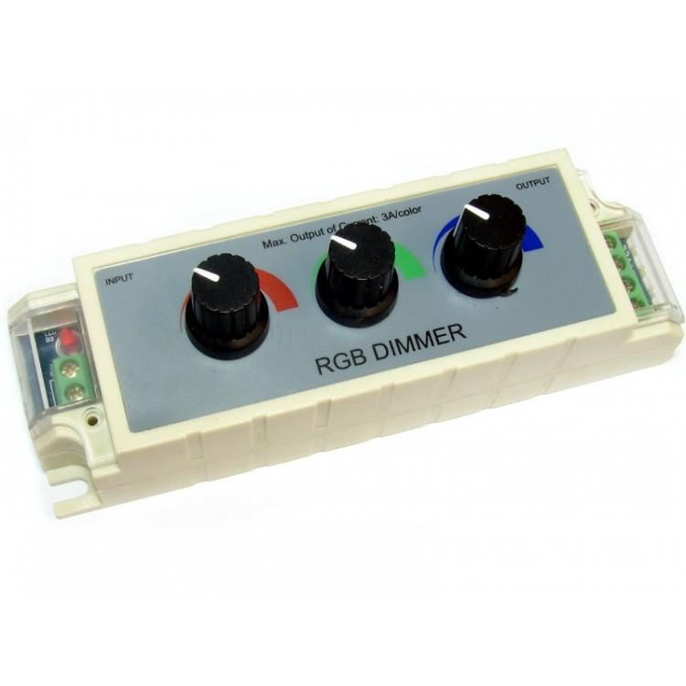 DIMMER POTENZIOMETRO 12V 3 VIE RGB PER LED