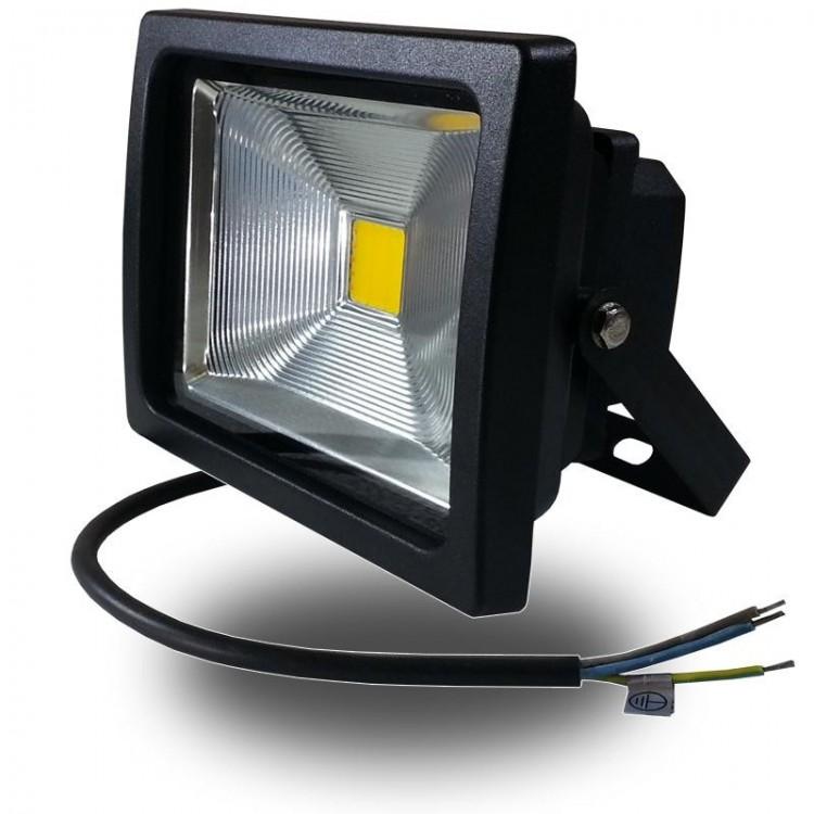 FARO 20W LED 230V LUCE CALDA DA ESTERNO NERO V-TAC