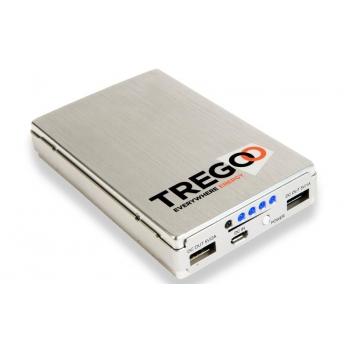 BATTERIA ESTERNA PORTATILE USB TREGOO LIZARD 50 5V 13800 mAh