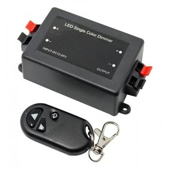 LED DIMMER POTENZIOMETRO 12V 24V 8A TELECOMANDO RF RADIO PER STRISCE LED