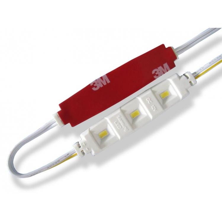 MODULO CON 3 LED SAMSUNG 5630 12V IP65 LUCE FREDDA