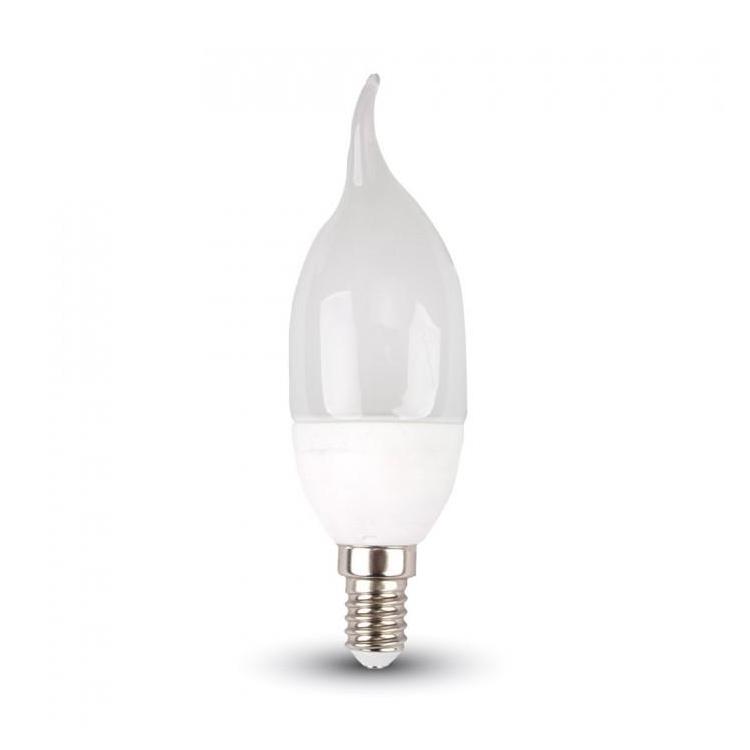 LAMPADINA LED E14 FIAMMA PER LAMPADARIO CANDELABRO BAJOUR 4W LUCE CALDA 2700K
