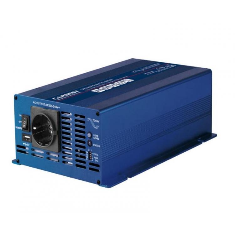 INVERTER ONDA PURA 700W 1200W 12V USB CARBEST CAMPER BAITA MEZZI MOBILI