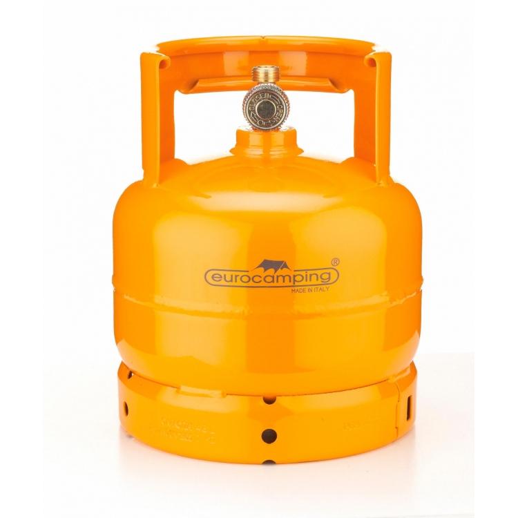 BOMBOLA GAS RICARICABILE PER CAMPER CAMPEGGIO DA 2KG EUROCAMPING 4,8L FORNELLO