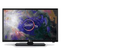 """Smart Tv 24"""" 12V DVBT2 e DVS2"""